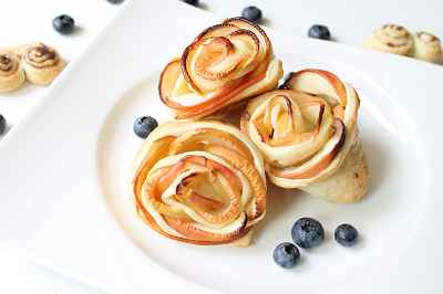 Rezept: Apfel-Blätterteig-Rosen