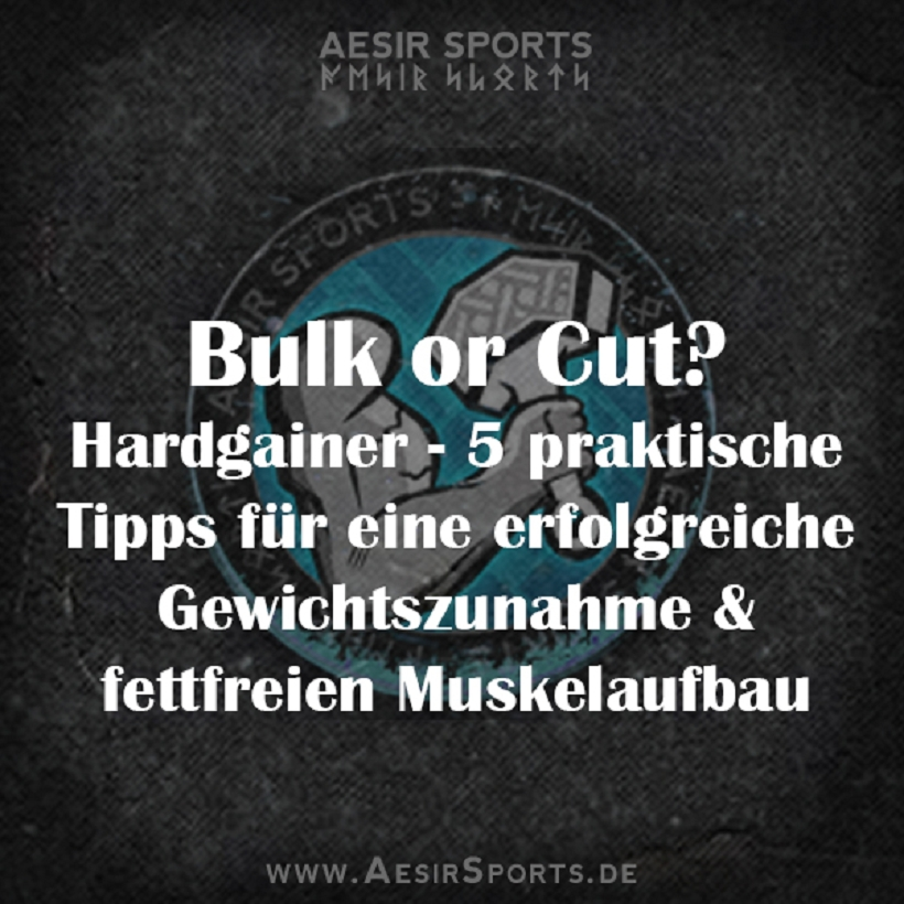 Bulk or Cut - Teil 2 - 5 Regeln für Hardgainer (für eine erfolgreiche Gewichtszunahme & Muskelaufbau)