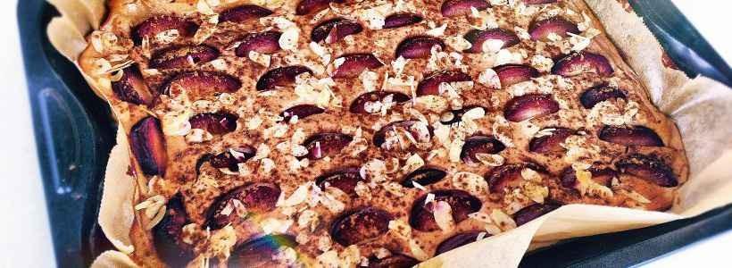 Schoko-Brownie Zwetschgen Kuchen