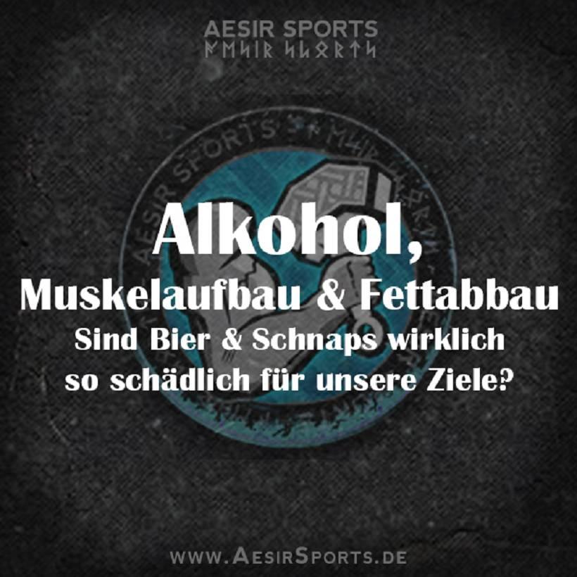 Alkohol, Muskelaufbau & Fettabbau - Wie schädlich ist es wirklich?