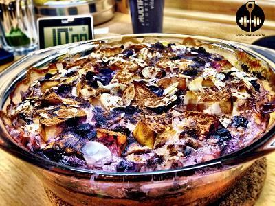 Apfel-Zimt Käsekuchen | High Protein Cheesecake Rezept