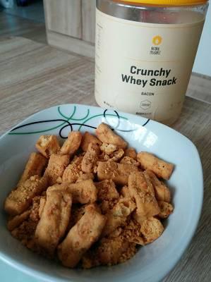 Crunchy Whey Snack - Konsistenz & Geschmack (5/5)