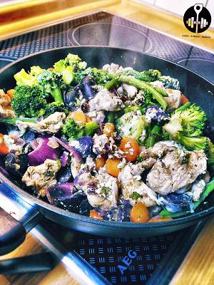 Lila Kartoffel-Pfanne | Hauptmahlzeiten Rezept