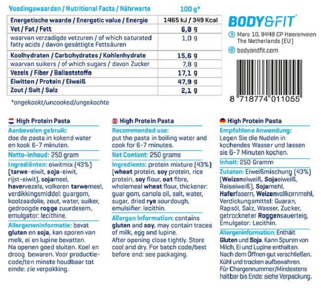 Low Carb High Protein Pasta - Inhalt (4/5)