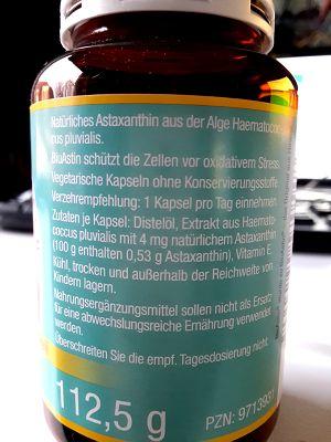 Biu Astin (Astaxanthin) - Aufmachung & Verpackung