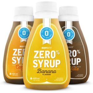Ab sofort erhältlich: Leckere kalorienarme Sirups für Desserts. Aktuell in 3 Geschmacksrichtungen (Banane, Schokolade, Karamell)