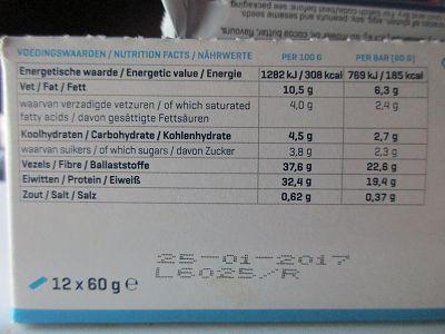 Clean Protein Bar - Die Makronährstoffverteilung