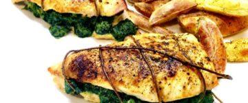 Putenbrust mit Spinatfüllung | Gesunde Hauptmahlzeit