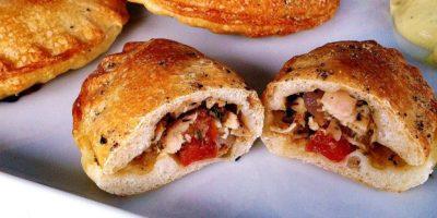 Gefüllte Teigtaschen mit Hähnchen | Snack 2 Go Rezept