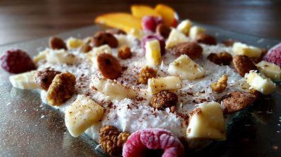 Rezept: Fruchtige Chocolate Chip Flexbowl | Proteinreiches Frühstück