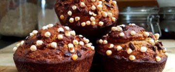 Knusprige Schoko Karamell Muffins | Protein Muffin Rezept