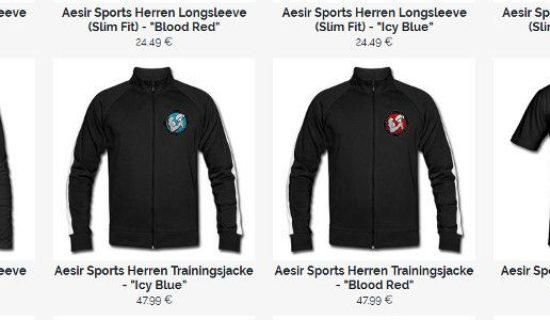 Neue Aesir Sports Shirts, Jacken & Merch