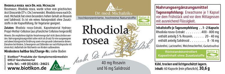 Rosenwurz Extrakt (Rhodiola Rosea) - Inhalt & Preis