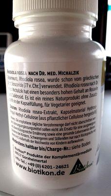 Rosenwurz Extrakt (Rhodiola Rosea) - Subjektiv festgestellte Wirkungen im Selbsttest