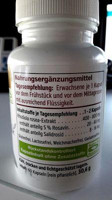 Rosenwurz Extrakt (Rhodiola Rosea) – Aufmachung & Verpackung