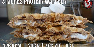 Protein Smores Waffeln   High Protein Waffeln