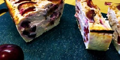Himbeer Zwetschgen Kuchen | High Protein Dessert