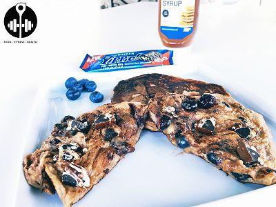 Leckere Blaubeeren Pfannkuchen   High Protein Pancakes