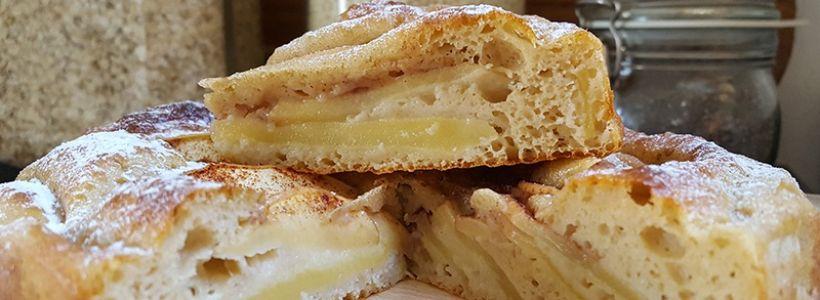 Protein Apfelkuchen | Gesundes Apfelkuchen Rezept