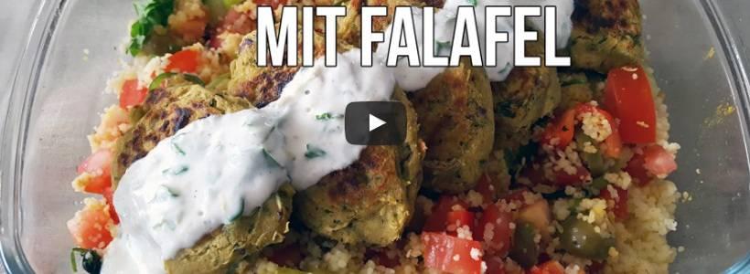 Couscous Salat mit Falafel | Gesunde Fitness Mahlzeit