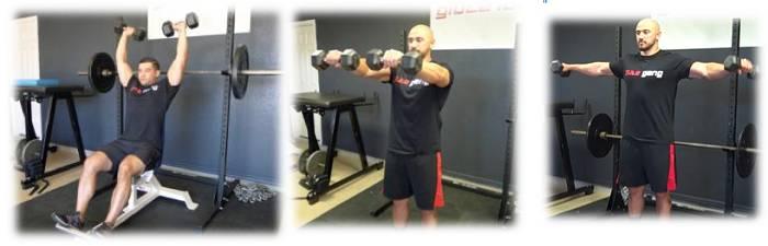 Unterstützende Übungen fürs Military Press: Schulter
