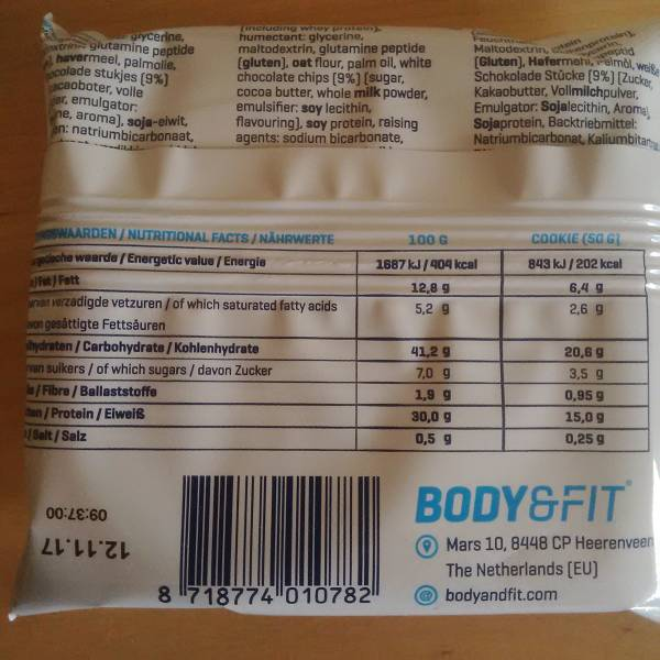 Review: Protein Cookies von Body & Fit im Test