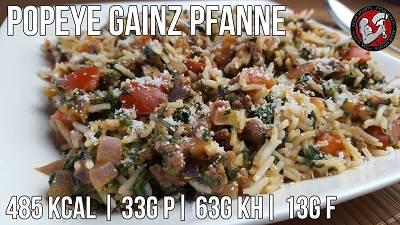 Popeye Gainz Pfanne | Schnelles Fitness Rezept