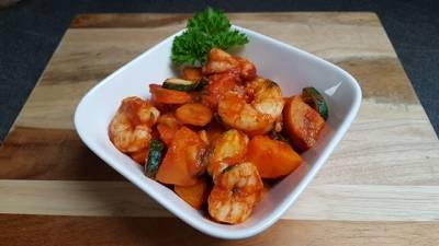 Rezept: Garnelen Süßkartoffel Pfanne | Gesundes Mittagessen
