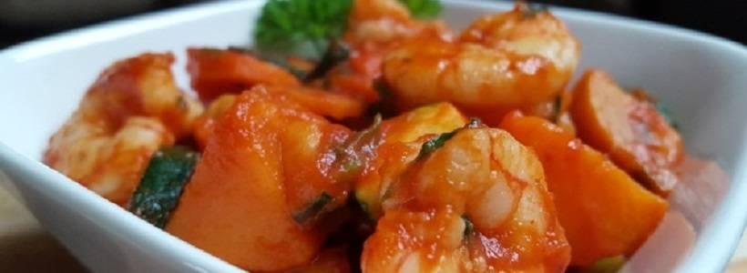 Garnelen Süßkartoffel Pfanne | Gesundes Mittagessen
