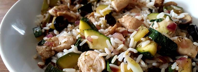 Hähnchenpfanne der Provence | Gesundes Mittagessen
