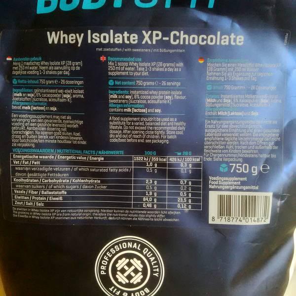 Whey Isolate XP (Schokolade) – Aufmachung (4,5/5)