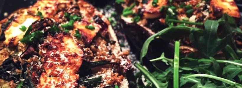 Gefüllte Couscous-Feta-Auberginen | Vegetarisches Hauptgericht