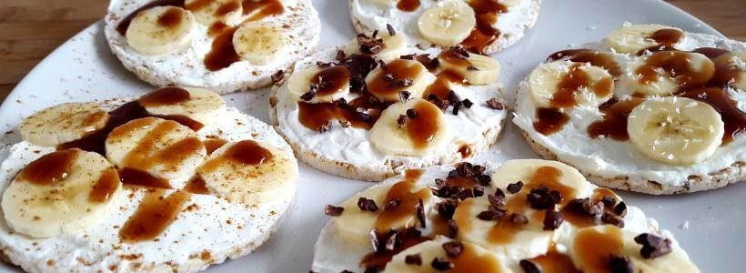 Reiswaffeln mit Bananen-Split Topping | Post-Workout Snack