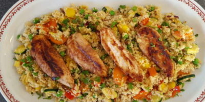 Balsamico-Honig-Hühnchen mit Couscous | Gesundes Mittagessen