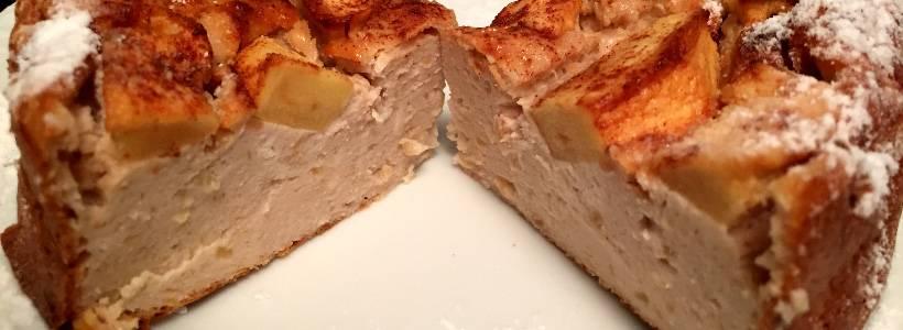 Apfel-Erdnuss-Kuchen | High Protein High Carb Kuchen
