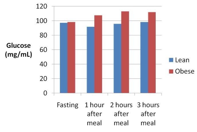 Insulin & Insulinspiegel - Blutzuckerreaktion infolge einer proteinreichen, kohlenhydratarmen Mahlzeit in schlanken und übergewichtigen Individuen.