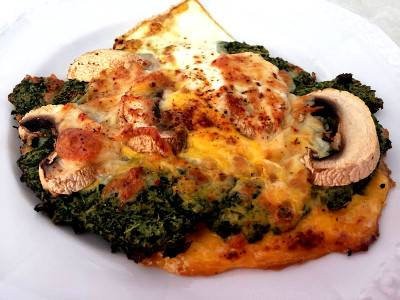 Spinatpizza | Low Carb Pizza Rezept