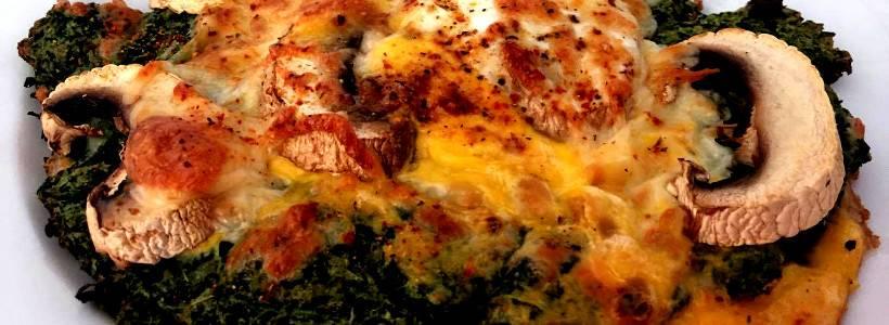 Spinatpizza | Low Carb Pizza Rezept