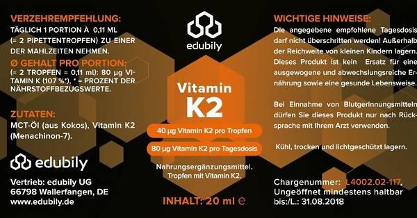 Review: Vitamin K2 Tropfen von Edubily im Test