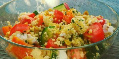 Schneller Hirsesalat | Leckeres Beilagen Rezept