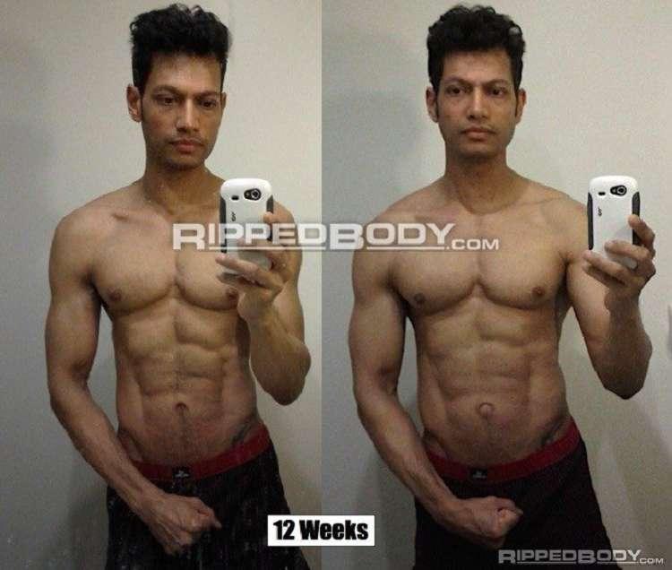 """Adrian unmittelbar nach seiner Diät (links) sowie nach seinem """"leanen"""" Wechsel auf den Erhaltungsbedarf (wie im Guide ermittelt). Das Gewicht hat sich um knapp 4,5 kg nach oben verändert (infolge des Aufbaus von Muskelglykogens + Wassereinlagerung bei minimalem Fettzuwachs)"""