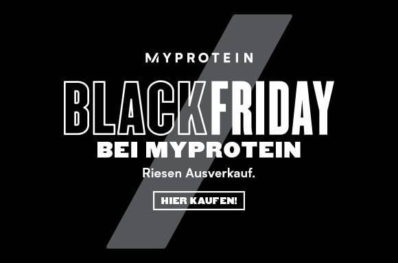 Der größte Sale des Jahres bei Myprotein: Black Friday Woche eingeläutet!