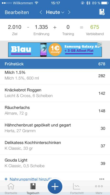 Review: MyFitnessPal App im Test