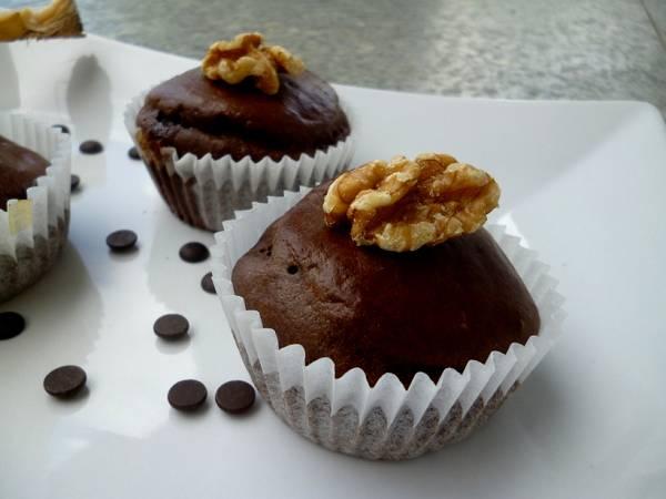 Saftige Schoko Bananen Muffins | Dessert Rezept