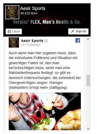 Aesir Sports auf Facebook