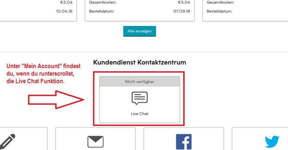 Myprotein Kundenservice via Live Chat kontaktieren