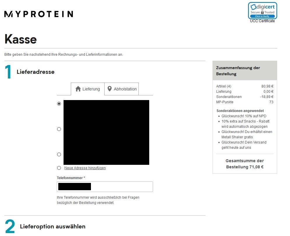 Wie kann ich einen Gutschein bzw. Rabattcode bei Myprotein verwenden?