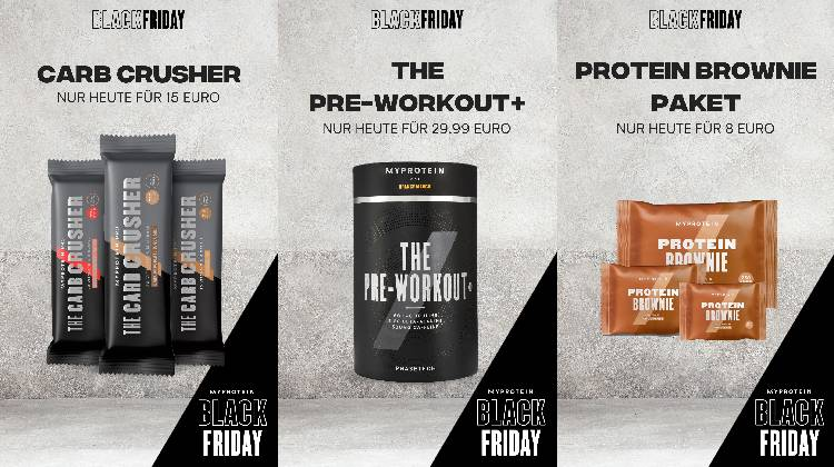 18.11.2018 - 25.11.2018 - Black Friday bei Myprotein!