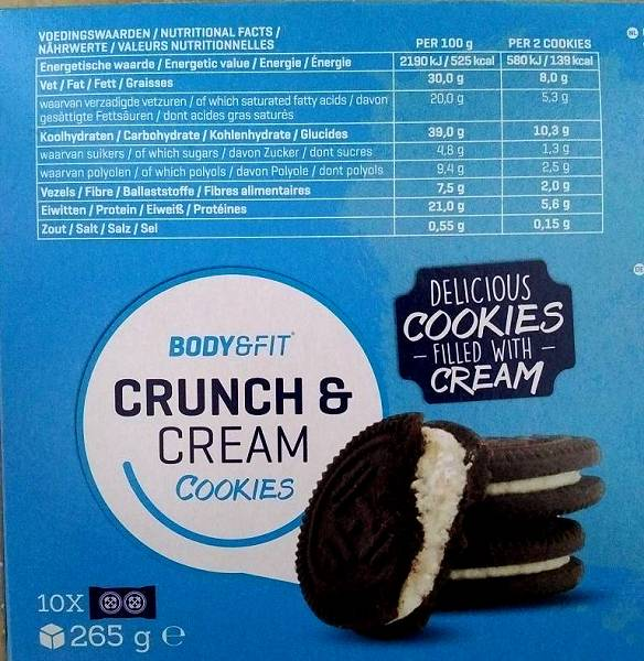 Review: Crunch & Cream Cookie von Body & Fit im Test