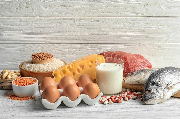 Diät Tipp: Es gibt viele gute Gründe, weshalb du in einer Diät vermehrt auf proteinreiche Lebensmittel zurückgreifen solltest: Sie erhalten wertvolle Magermasse (Muskulatur), machen satt und erhöhen den Stoffwechsel. (